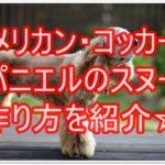 アメリカン・コッカー・スパニエルのスヌードの作り方紹介☆